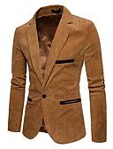 billige Herreblazere og jakkesæt-Herre Blazer Smoking revers Polyester Navyblå / Vin / Kakifarvet XL / XXL / XXXL