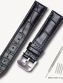 economico Cinturino in pelle-vera pelle / Pelle / Pelo di vitello Cinturino per orologio  Cinghia per Nero / Marrone 17cm / 6,69 pollici / 18cm / 7 Pollici / 19cm / 7.48 Pollici 1.4cm / 0.55 Pollici / 1.6cm / 0.6 Pollici / 1.8cm