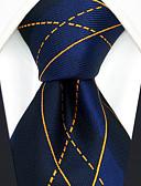 abordables Corbatas y Pajaritas para Hombre-Hombre Corbata - Fiesta / Trabajo / Básico Geométrico / Cuadrícula / Jacquard