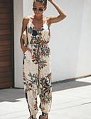 hesapli Kadın Tulumları-Kadın's Temel Beyaz Siyah Tulumlar, Geometrik M L XL