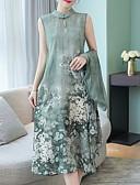 זול שמלות מודפסות-מידי דפוס, פרחוני - שמלה גזרת A מידות גדולות בגדי ריקוד נשים