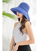 billige Hatter til damer-Dame Unisex Fest Aktiv søt stil Solhatt Ensfarget Bomull Vår Høst Rosa Gul Kakifarget / Tøy