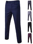 cheap Men's Tees & Tank Tops-Men's Basic Suits / Chinos Pants - Solid Colored Wine Light Blue Light gray XXXXL XXXXXL XXXXXXL