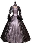 hesapli Smokinler-Prenses Rococo Wiktoriańskie Elbiseler Parti Kostümleri Kostüm Kadın's Kostüm Açık Mor Eski Tip Cosplay Pamuk Maskeli Balo Parti ve Gece Uzun Kollu Yere Kadar Uzun (L) Büyük Bedenler