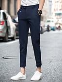 povoljno Muške duge i kratke hlače-Muškarci Osnovni Chinos Hlače - Jednobojni Crn