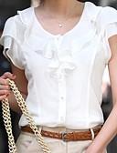 billige Skjorter til damer-Bluse Dame - Ensfarget Hvit