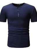 abordables Bañadores de Hombre-Hombre Camiseta Un Color Negro L