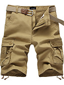 levne Pánské kalhoty a kraťasy-Pánské Základní EU / US velikost Kalhoty chinos Kalhoty - Jednobarevné Žlutá Armádní zelená Khaki XXXL XXXXL XXXXXL