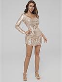 preiswerte Cocktailkleider-Eng anliegend V-Ausschnitt Kurz / Mini Pailletten Cocktailparty Kleid mit Paillette durch TS Couture®