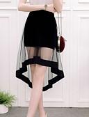 hesapli Tişört-Kadın's Asimetrik A Şekilli Etekler - Solid Siyah M L