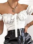 זול טישרט-אחיד סירה מתחת לכתפיים רזה חליפת גוף - בגדי ריקוד נשים תלתן S