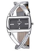 halpa Kvartsikellot-Naisten Quartz Square Watch Muoti Tyylikäs Musta  PU Leather Quartz Valkoinen Musta Arkikello 1 kpl Analoginen Yksi vuosi Akun käyttöikä / Ruostumaton teräs