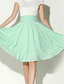 billige Nederdele-Dame Basale Gynge Nederdele Ensfarvet / Tynd