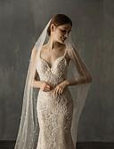 povoljno Vjenčani velovi-One-tier Elegantna i Luksuzan Vjenčani velovi Katedrala Burke s Faux Pearl Til