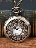 cheap Pocket Watches-Men's Pocket Watch Quartz Bronze Hollow Engraving Casual Watch Large Dial Analog Fashion Skeleton - Bronze