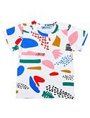 tanie Topy dla niemowląt-Dziecko Dla dziewczynek Aktywny / Podstawowy Geometric Shape / Nadruk / Tęczowy Krótki rękaw Bawełna / Poliester T-shirt Biały