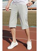 お買い得  メンズフーディー&スウェットシャツ-男性用 スポーティー ショーツ パンツ - プリント ブラック