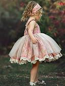 זול סטים של ביגוד לתינוקות-שמלה פרחוני ורד מאובק בנות ילדים / פעוטות