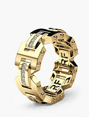 cheap Men's Belt-Men's Women's Classic Promise Ring Joy Stylish Ring Jewelry Gold / Rose Gold For Engagement Daily 6 / 7 / 8 / 9 / 10
