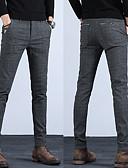 זול ווסטים-בגדי ריקוד גברים בסיסי צ'ינו מכנסיים - אחיד קלאסי פול שחור אפור 34 36 38