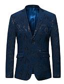 hesapli Erkek Blazerları ve Takım Elbiseleri-Erkek Blazer Şal Yaka Polyester Havuz / Siyah XXXXL / XXXXXL / XXXXXXL