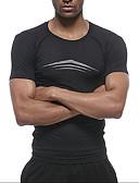 abordables Ropa interior para hombre exótica-Hombre Camiseta de running Deportes Letra Camiseta Running Fitness Manga Corta Ropa de Deporte Transpirable Suave Reductor del Sudor Elástico