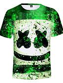 halpa Tyttöjen yläosat-Lapset Poikien Aktiivinen Painettu Lyhythihainen Puuvilla T-paita Apila