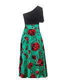 abordables Vestidos de Mujer-Mujer Tallas Grandes Algodón Delgado Corte Swing Vestido Maxi Halter