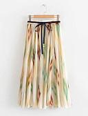 billige Nederdele-kvinders midi swing nederdele - farve blok