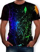 billige Herreblazere og jakkesæt-Herre - Farveblok / 3D Trykt mønster T-shirt