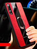 levne Pouzdra telefonu-Carcasă Pro Huawei Huawei P30 / Huawei P30 Pro Nárazuvzdorné / Držák na prsteny Zadní kryt Jednobarevné Měkké PU kůže / TPU pro Huawei P20 / Huawei P20 Pro / Huawei P30