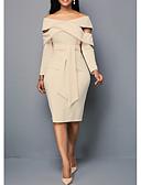 זול שמלות נשים-סירה מתחת לכתפיים עד הברך אחיד - שמלה נדן רזה אלגנטית בגדי ריקוד נשים