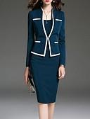 halpa Pluskokoiset mekot-naisten polvipituinen bodycon mekko musta sininen s m l xl