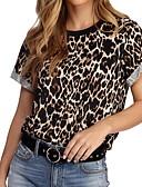 cheap Women-Women's T-shirt - Leopard Khaki XL