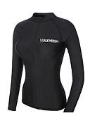 halpa Märkäpuvut, sukelluspuvut ja suoja-asut-LUCKYFISH Naisten Rash guard -suojapaita Uimapaita UV-aurinkosuojaus Nopea kuivuminen Pitkähihainen Etuvetoketju - Uinti Sukellus Maalaus Syksy Kevät Kesä / Erittäin elastinen