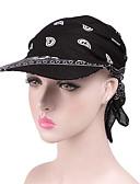 זול כובעים לנשים-כל העונות אודם ורוד מסמיק כחול נייבי כובע פאדורה כובע עם שוליים רחבים כובע שמש קולור בלוק פרחוני כותנה פעיל בסיסי סגנון חמוד בגדי ריקוד נשים