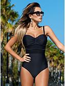 hesapli One-piece swimsuits-Kadın's Temel Doğal Pembe Sarı Fuşya Yarım Tanga Tek Parçalılar Mayolar - Solid Zıt Renkli M L XL Doğal Pembe