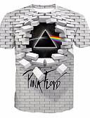 abordables Camisetas y Tops de Hombre-Hombre Estampado Camiseta Geométrico / 3D / Gráfico Gris XXXXL