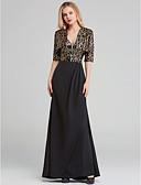 olcso Maxi ruhák-Sellő fazon Spagettipánt Seprő uszály Sztreccs szatén Örömanya ruha val vel Minta által LAN TING BRIDE®