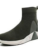 hesapli Erkek Kazakları ve Hırkaları-Erkek Ayakkabı Örgü Bahar / Sonbahar Sportif / Günlük Spor Ayakkabısı Yürüyüş Günlük için Siyah / Ordu Yeşili