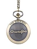 baratos Relógios Homem-Homens Relógio de Bolso Quartzo Bronze Relógio Casual Mostrador Grande Analógico Vintage Casual - Marron