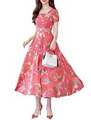 זול שמלות מקרית-מקסי גיאומטרי - שמלה גזרת A בסיסי בגדי ריקוד נשים