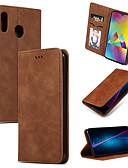 Недорогие Чехлы для телефонов-Кейс для Назначение SSamsung Galaxy Galaxy M10 (2019) / Galaxy M20(2019) Бумажник для карт / со стендом / Флип Чехол Однотонный Мягкий Кожа PU