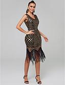 رخيصةأون فساتين حسب الطلب-عامودي V رقبة قصير مترتر حفلة كوكتيل فستان مع ترتر بواسطة TS Couture®