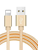 """זול כבל & מטענים iPhone-הברק כבל USB כבל כבל קלוע עבור iPhone 100 ס""""מ עבור ניילון"""