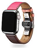 זול להקות Smartwatch-צפו בנד ל סדרת Apple Watch 5/4/3/2/1 Apple פרפר באקל עור אמיתי רצועת יד לספורט