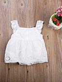 זול אוברולים טריים לתינוקות-מקשה אחת One-pieces כותנה ללא שרוולים אחיד פעיל / בסיסי בנות תִינוֹק / פעוטות