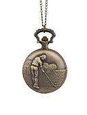 baratos Relógios Homem-Homens Relógio de Bolso Quartzo Bronze Relógio Casual Analógico Vintage Ao ar Livre - Marron