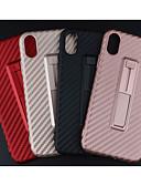 זול מגנים לאייפון-מגן עבור Apple iPhone XS / iPhone XR / iPhone XS Max מחזיק טבעת / מזוגג כיסוי אחורי אחיד רך TPU