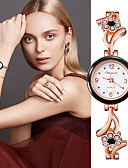 cheap Quartz Watches-Women's Quartz Watches Fashion Elegant Silver Rose Gold Stainless Steel Quartz Purple Black+White Rose Gold Casual Watch Lovely 1 pc Analog One Year Battery Life
